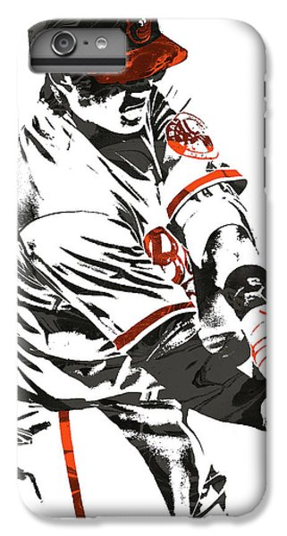 Oriole iPhone 7 Plus Case - Manny Machado Baltimore Orioles Pixel Art by Joe Hamilton