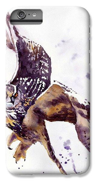 Falcon iPhone 7 Plus Case - Owl Watercolor by Suzann's Art