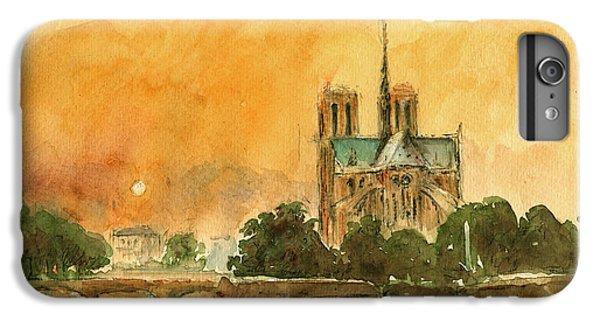 Paris Notre Dame IPhone 7 Plus Case by Juan  Bosco