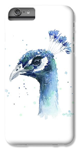Peacock Watercolor IPhone 7 Plus Case by Olga Shvartsur