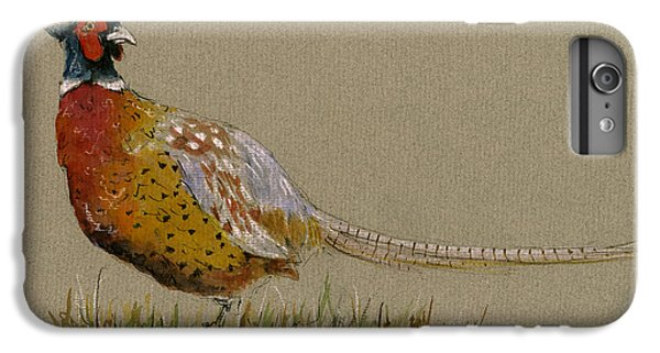 Pheasant iPhone 7 Plus Case - Pheasant Bird Art by Juan  Bosco