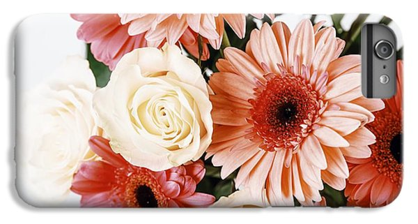 Pink Gerbera Daisy Flowers And White Roses Bouquet IPhone 7 Plus Case by Radu Bercan