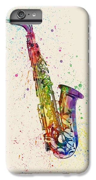 Saxophone iPhone 7 Plus Case - Saxophone Abstract Watercolor by Michael Tompsett