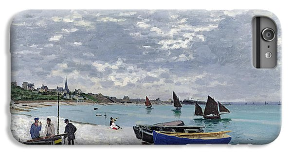 Boats iPhone 7 Plus Case - The Beach At Sainte Adresse by Claude Monet