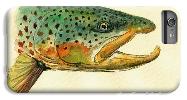 Trout Watercolor Painting IPhone 7 Plus Case