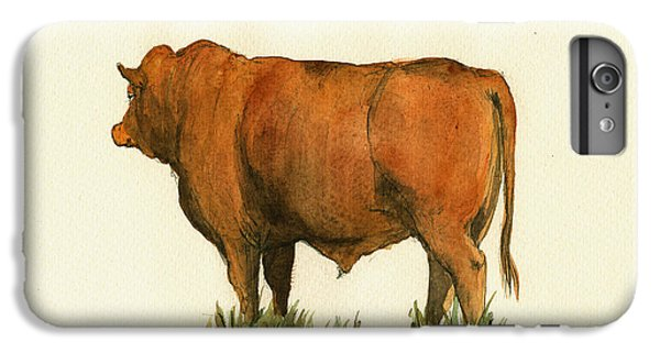 Zebu Cattle Art Painting IPhone 7 Plus Case by Juan  Bosco