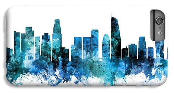 Los Angeles Skyline iPhone 7 Plus Case - Los Angeles California Skyline by Michael Tompsett