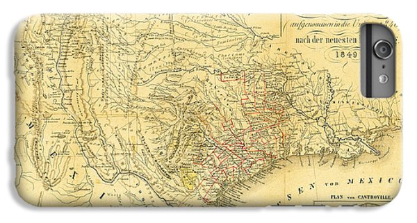 1849 Texas Map IPhone 7 Plus Case