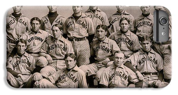University Of Michigan iPhone 7 Plus Case - 1896 Michigan Baseball Team by Jon Neidert