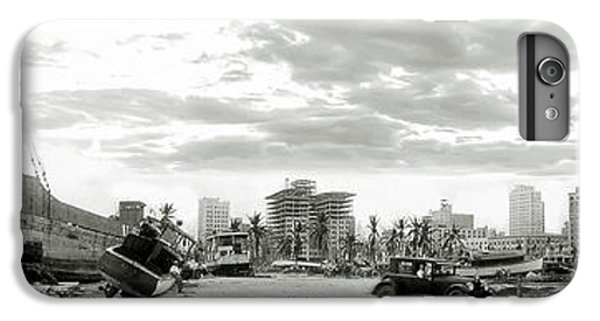 Miami Skyline iPhone 7 Plus Case - 1926 Miami Hurricane  by Jon Neidert