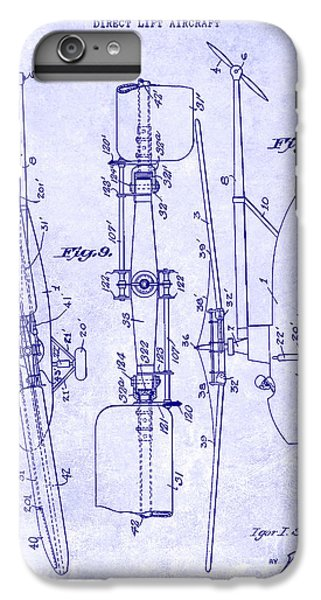 1935 Helicopter Patent Blueprint IPhone 7 Plus Case by Jon Neidert
