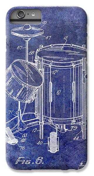 Drum iPhone 7 Plus Case - 1951 Drum Kit Patent Blue by Jon Neidert