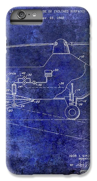 1953 Helicopter Patent Blue IPhone 7 Plus Case by Jon Neidert