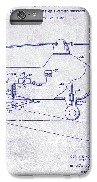 1953 Helicopter Patent Blueprint IPhone 7 Plus Case by Jon Neidert