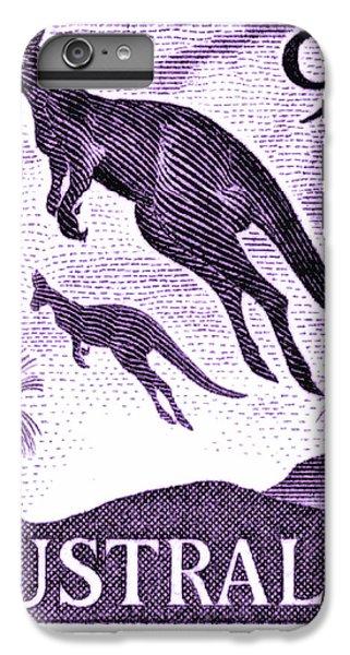 Kangaroo iPhone 7 Plus Case - 1959 Australia Kangaroo Postage Stamp by Retro Graphics
