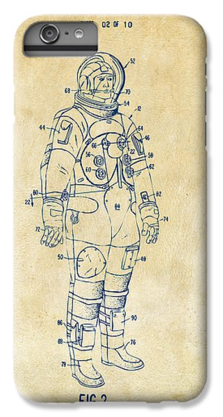 1973 Astronaut Space Suit Patent Artwork - Vintage IPhone 7 Plus Case by Nikki Marie Smith