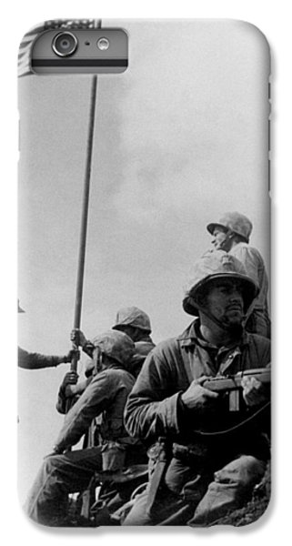 Marine iPhone 7 Plus Case - 1st Flag Raising On Iwo Jima  by War Is Hell Store