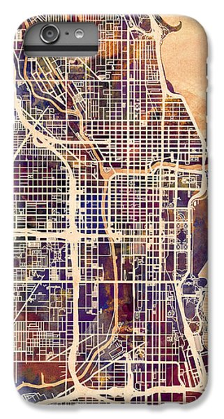 Grant Park iPhone 7 Plus Case - Chicago City Street Map by Michael Tompsett