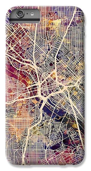 Dallas iPhone 7 Plus Case - Dallas Texas City Map by Michael Tompsett