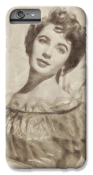Elizabeth Taylor, Vintage Hollywood Legend By John Springfield IPhone 7 Plus Case by John Springfield