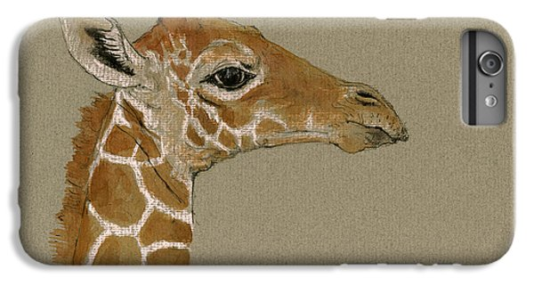 Giraffe Head Study  IPhone 7 Plus Case by Juan  Bosco