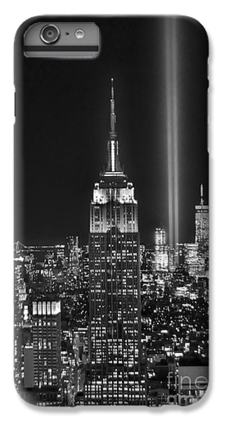 Central Park iPhone 7 Plus Case - New York City Tribute In Lights Empire State Building Manhattan At Night Nyc by Jon Holiday