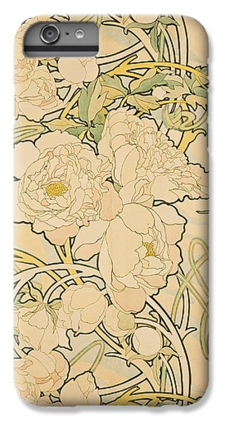 Peonies IPhone 7 Plus Case by Alphonse Mucha