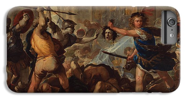 Gorgon iPhone 7 Plus Case - Perseus Turning Phineas And His Followers To Stone by Luca Giordano