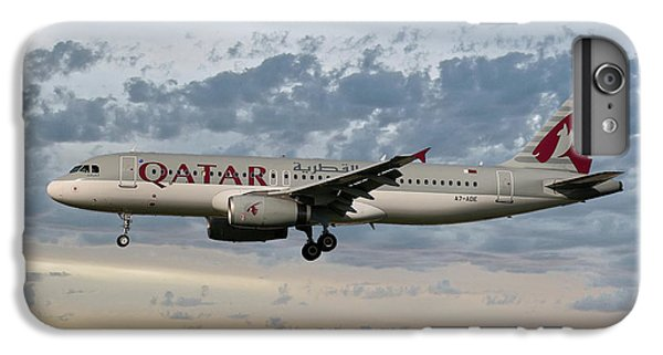 Jet iPhone 7 Plus Case - Qatar Airways Airbus A320-232 by Smart Aviation