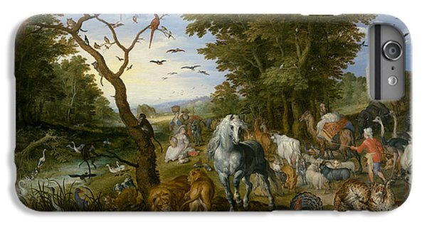Ostrich iPhone 7 Plus Case - The Entry Of The Animals Into Noah's Ark by Jan Brueghel the Elder