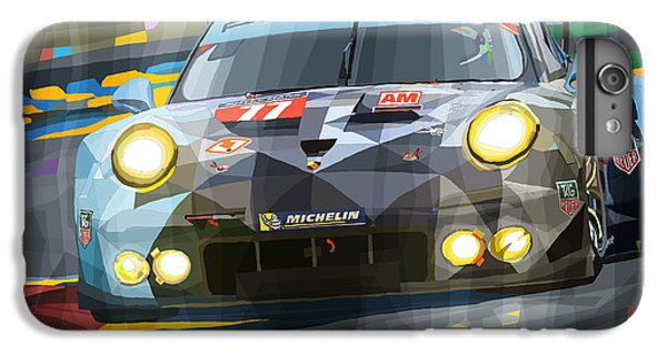 Car iPhone 7 Plus Case - 2015 Le Mans Gte-am Porsche 911 Rsr by Yuriy Shevchuk