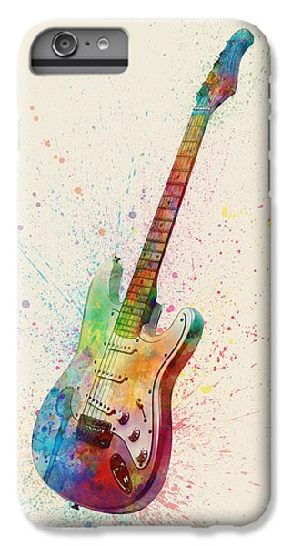 Electric Guitar Abstract Watercolor IPhone 7 Plus Case by Michael Tompsett