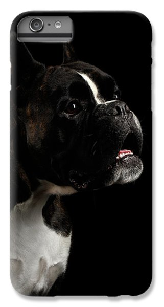 Purebred Boxer Dog Isolated On Black Background IPhone 7 Plus Case