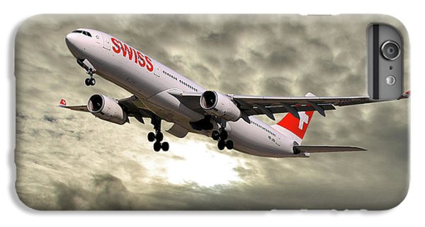 Jet iPhone 7 Plus Case - Swiss Airbus A330-343 by Smart Aviation