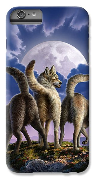 3 Wolves Mooning IPhone 7 Plus Case by Jerry LoFaro