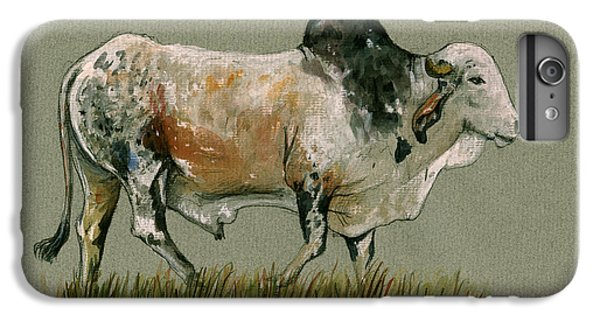 Zebu Cattle Art Painting IPhone 7 Plus Case