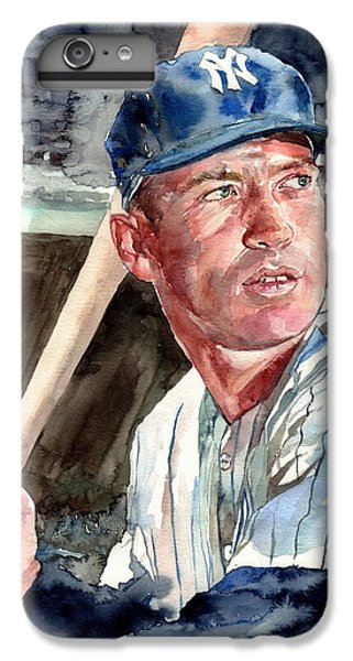 Mickey Mantle iPhone 7 Plus Case - Mickey Mantle Portrait by Suzann's Art