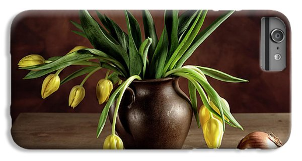 Onion iPhone 7 Plus Case - Still Life With Tulips by Nailia Schwarz