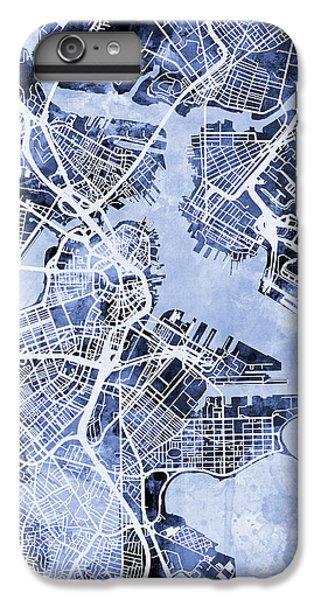 Boston Massachusetts Street Map IPhone 7 Plus Case by Michael Tompsett
