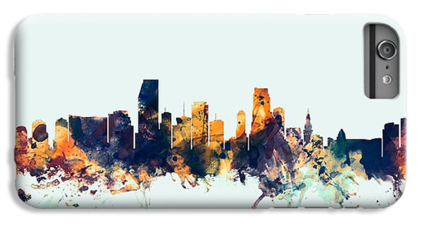 Miami Skyline iPhone 7 Plus Case - Miami Florida Skyline by Michael Tompsett