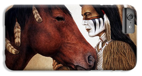 Horse iPhone 7 Plus Case - A Conversation by Pat Erickson