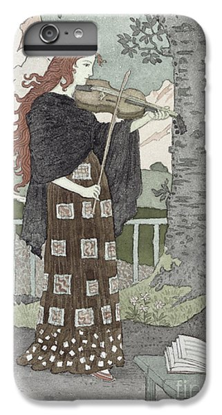 Violin iPhone 7 Plus Case - A Musician by Eugene Grasset