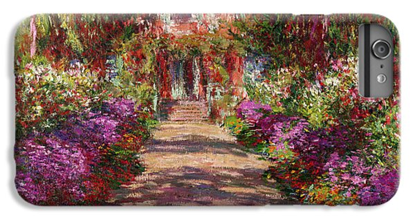 Impressionism iPhone 7 Plus Case - A Pathway In Monets Garden Giverny by Claude Monet