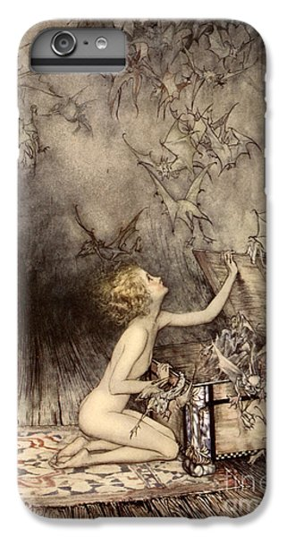 A Sudden Swarm Of Winged Creatures Brushed Past Her IPhone 7 Plus Case by Arthur Rackham