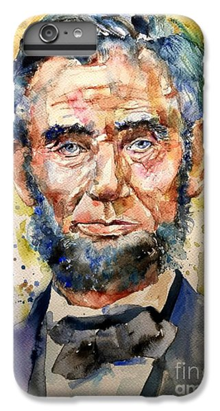 Abraham Lincoln iPhone 7 Plus Case - Abraham Lincoln Watercolor by Suzann's Art
