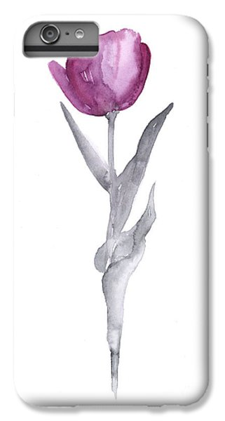 Tulip iPhone 7 Plus Case - Abstract Tulip Flower Watercolor Painting by Joanna Szmerdt