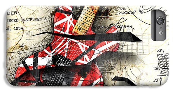 Guitar iPhone 7 Plus Case - Abstracta 35 Eddie's Guitar by Gary Bodnar