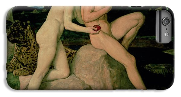 Python iPhone 7 Plus Case - Adam And Eve  by William Strang