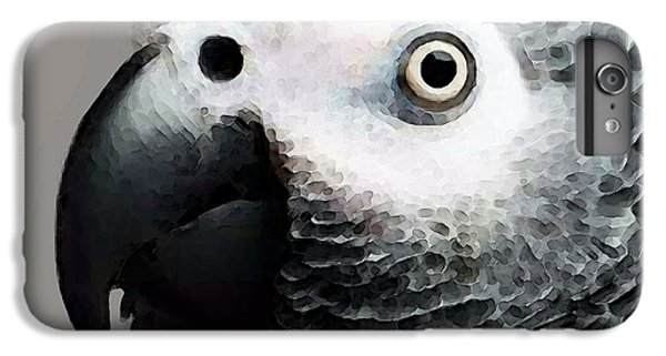African Gray Parrot Art - Softy IPhone 7 Plus Case by Sharon Cummings