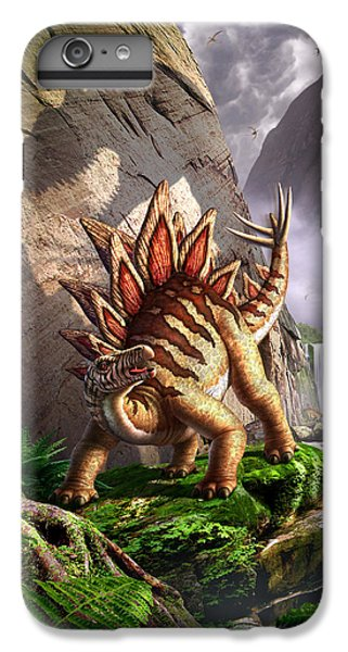 Dinosaur iPhone 7 Plus Case - Against The Wall by Jerry LoFaro
